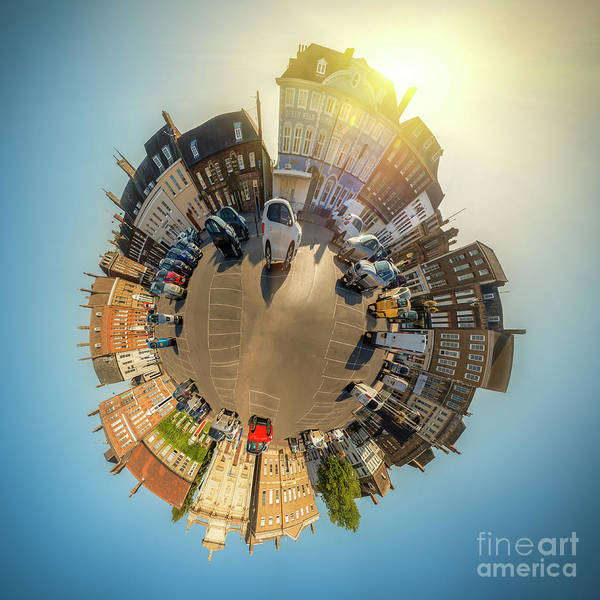 Kings Lynn Wall Art - Photograph - Tuesday Market Place Mini Planet by Simon Bratt Photography LRPS