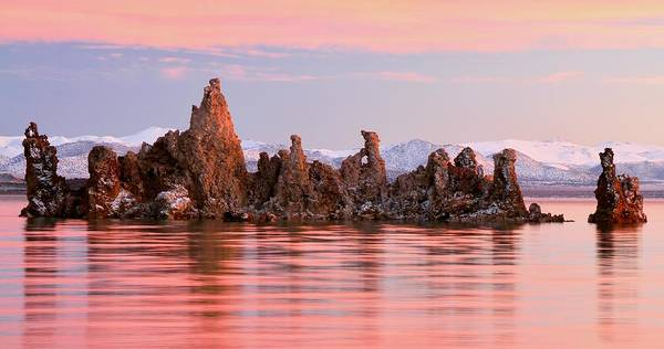 Photograph - Sunrise On The South Tufa Towers Mono Lake by Ed  Riche