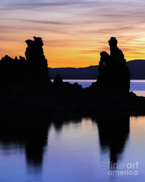 Photograph - Tufa Silhouette by Vincent Bonafede