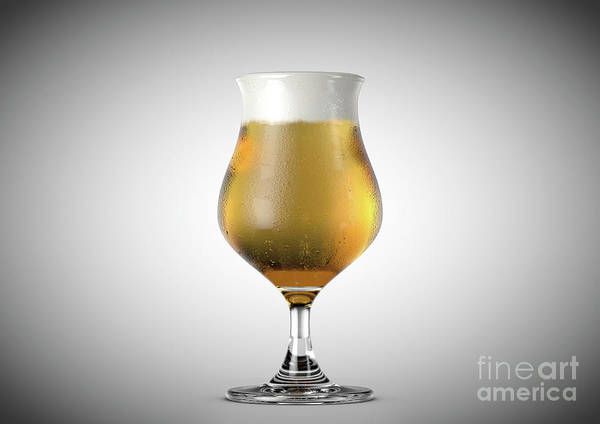Frosty Digital Art - Tulip Beer Pint by Allan Swart
