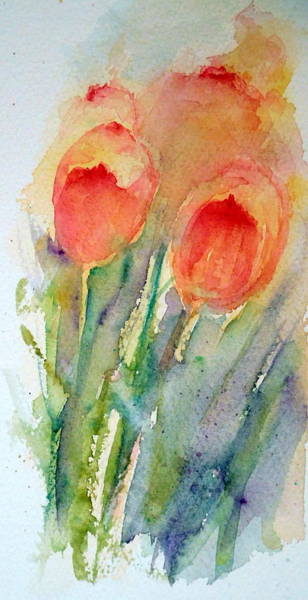 Painting - Tulip Dance by Anna Jacke