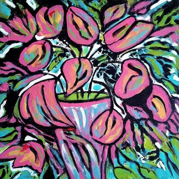 Painting - Tulip Dance by Nikki Dalton