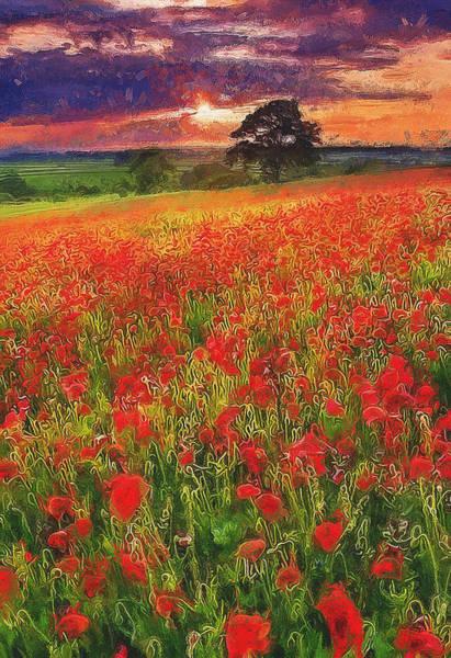 Painting - Tulip Fields - 01 by Andrea Mazzocchetti