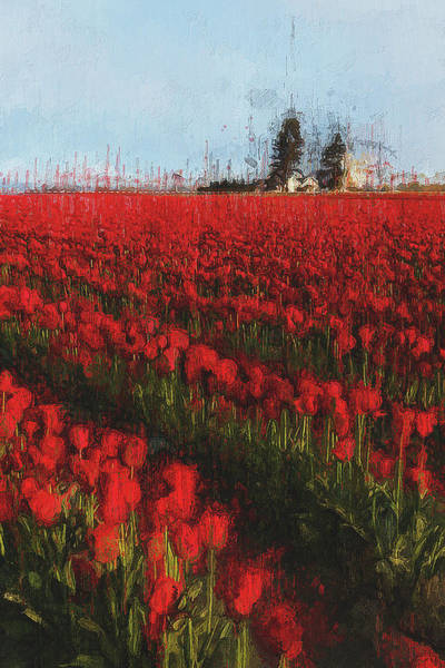 Painting - Tulip Fields - 03 by Andrea Mazzocchetti