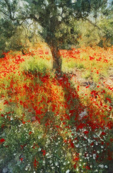 Painting - Tulip Fields - 05 by Andrea Mazzocchetti