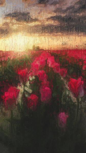 Painting - Tulip Fields - 06 by Andrea Mazzocchetti