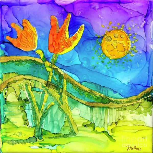 Painting - Tulip Hugs by Lisa DuBois