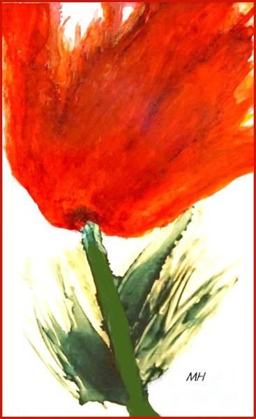 Wall Art - Painting - Tulip Large by Marsha Heiken