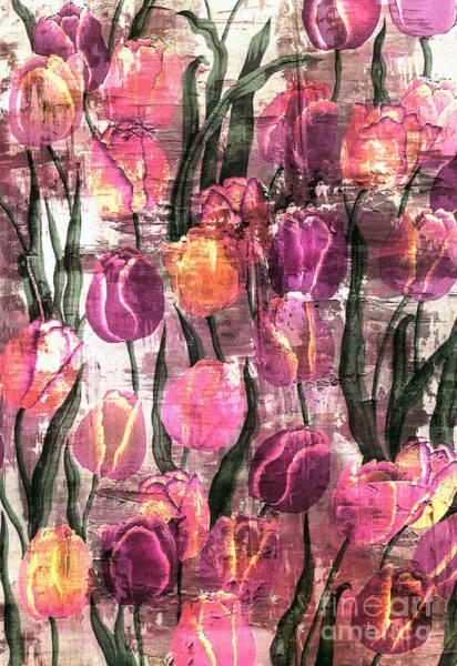 Tulips Mixed Media - Tulips Abstract by Jacky Gerritsen