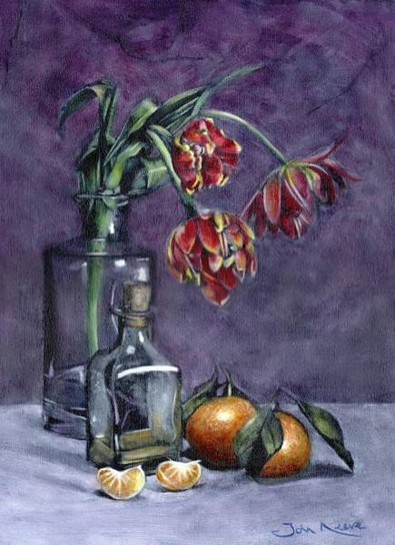 Painting - Tulips And Oranges by John Neeve