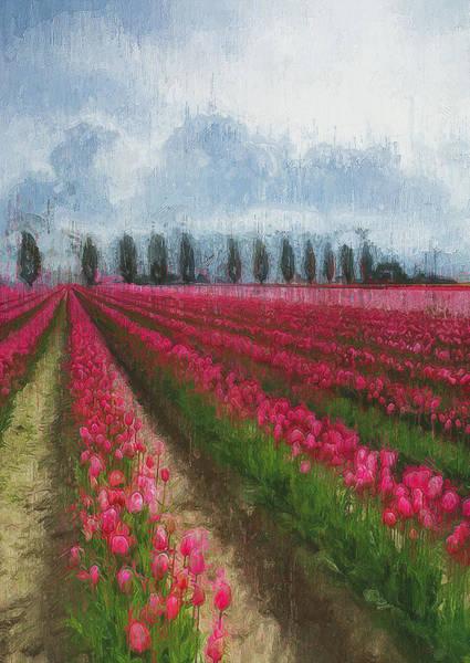Painting - Tulip Fields - 07 by Andrea Mazzocchetti