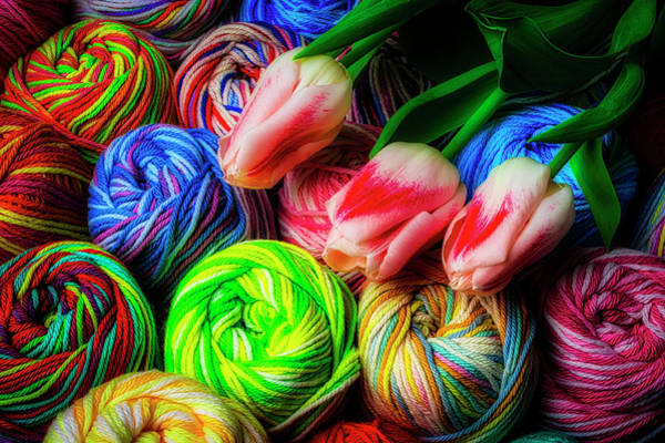 Wall Art - Photograph - Tulips And Yarn by Garry Gay