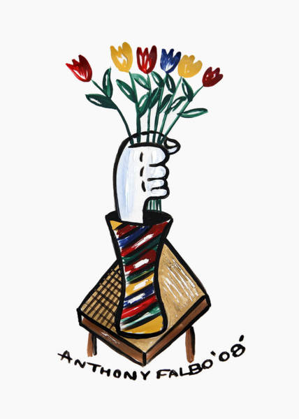 Painting - Tulips In Hand by Anthony Falbo