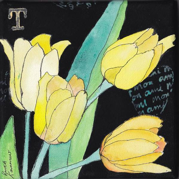 Painting - Tulips by Ruth Kamenev