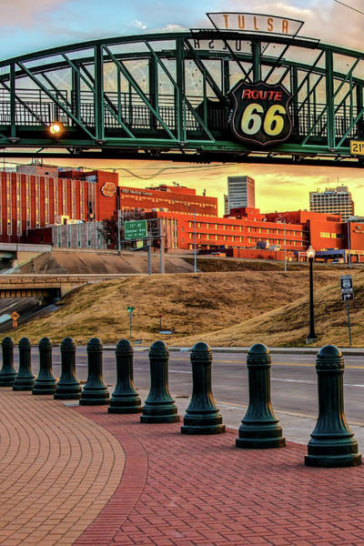 Photograph - Tulsa Route 66 Skyline From Avery Plaza by Gregory Ballos