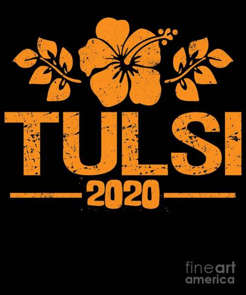 Digital Art - Tulsi Gabbard 2020 Aloha by Flippin Sweet Gear