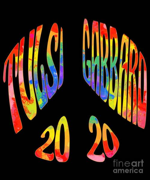 Digital Art - Tulsi Gabbard 2020 Peace Sign by Flippin Sweet Gear