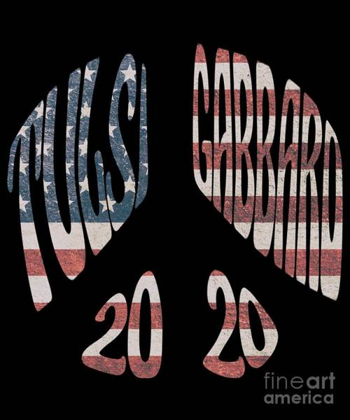 Digital Art - Tulsi Gabbard Peace In 2020 Us Flag by Flippin Sweet Gear