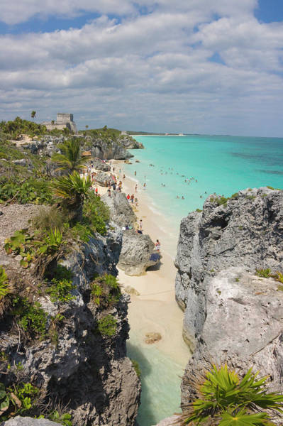 Ancient America Photograph - Tulum Ruins Along Th Coast by Keren Su