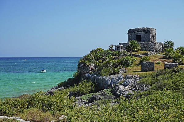Wall Art - Photograph - Tulum Ruins Ruins On The Ocean Tulum Mexico by Toby McGuire