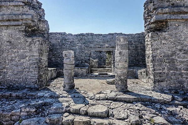 Photograph - Tulum Ruins Tulum Mexico Pilons by Toby McGuire