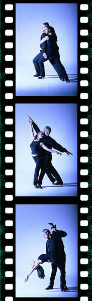 Photograph - Tungsten Film Strip Of A Young Couple by George Doyle