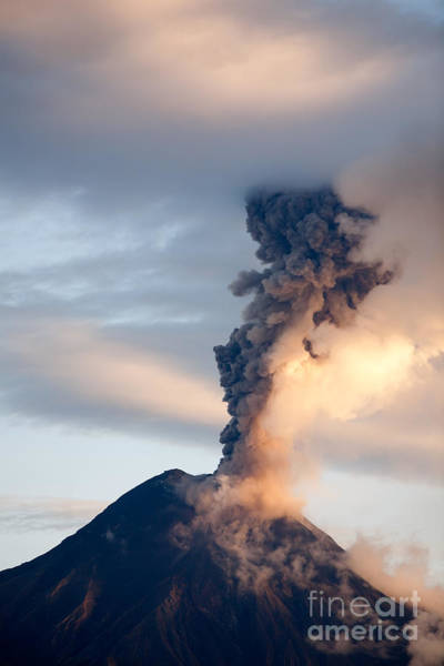 Wall Art - Photograph - Tungurahua Volcano Eruption 06 12 2010 by Ammit Jack