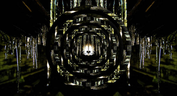 Wall Art - Photograph - Tunnel Icicles Reflection Circles by Pelo Blanco Photo