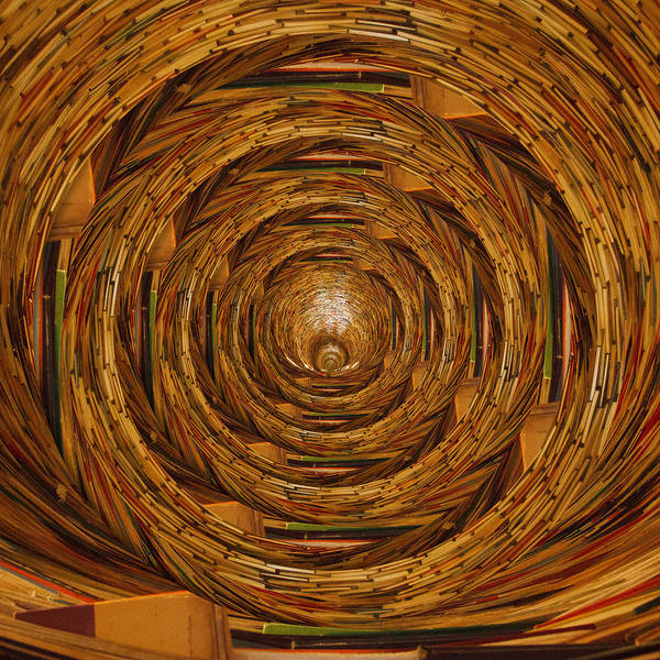 Wall Art - Photograph - Tunnel Of Books Circles by Pelo Blanco Photo