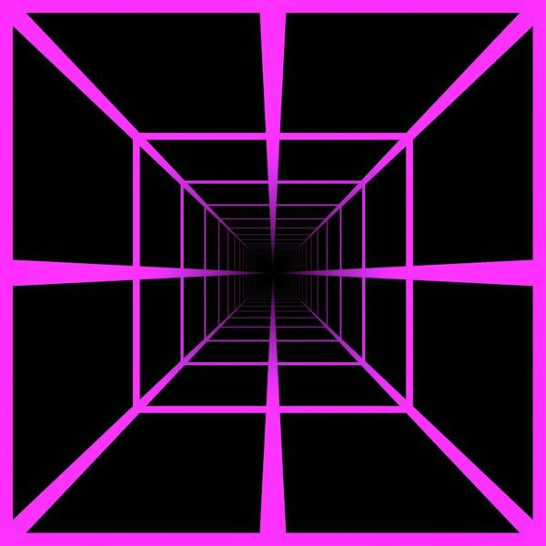 Digital Art - Tunnel Optical Illusion Pink by Don Northup