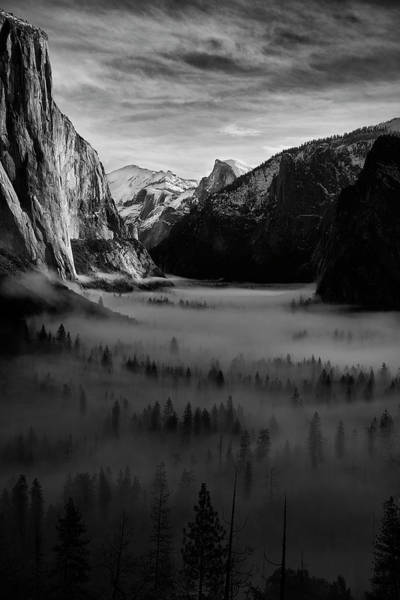Wall Art - Photograph - Tunnel View In The Morning by Jon Glaser