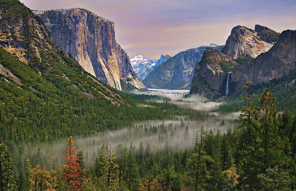 Scenic Photograph - Tunnel View. Yosemite. California by Sapna Reddy Photography