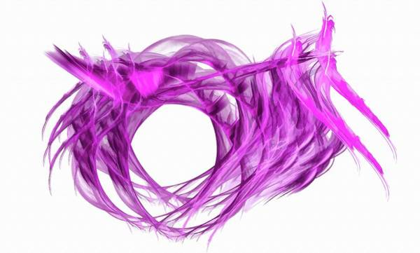 Digital Art - Tunnel Vision Magenta by Don Northup