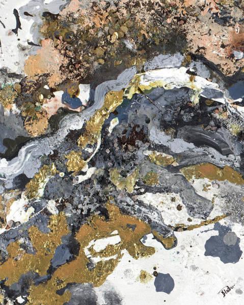 Metallic Painting - Turbulence Rectangle I by Patricia Pinto