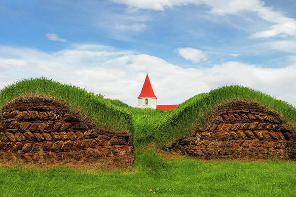 Photograph - Turf House And Steeple - Iceland by Marla Craven