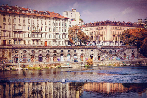 Riverside Photograph - Turin Italy Reflected On The River Po by Carol Japp
