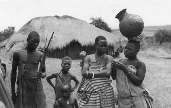 Jar Photograph - Turkana Family by Kenneth Rittener