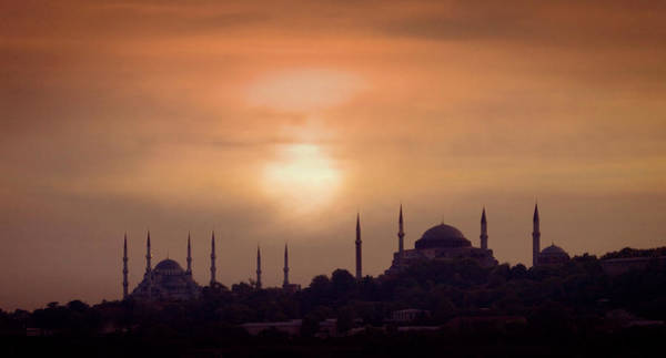 Hagia Sophia Photograph - Turkey, Istanbul, Blue Mosque And Hagia by Daryl Benson