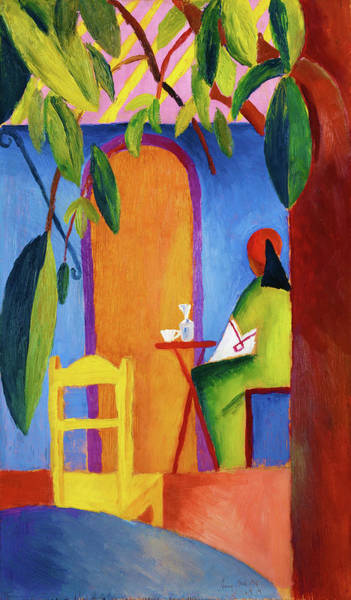 Wall Art - Painting - Turkish Cafe - Digital Remastered Edition by August Macke