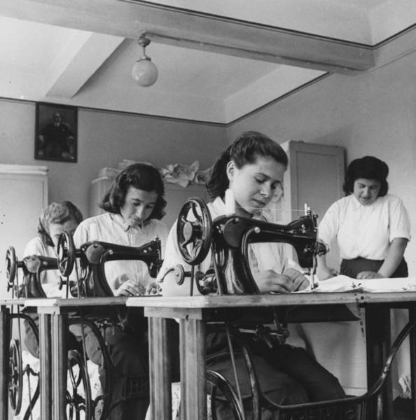 Reportage Photograph - Turkish Seamstresses by George Pickow
