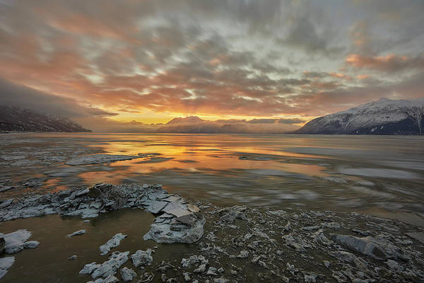 Wall Art - Photograph - Turnagain Arm Winter Sunrise by Tim Grams