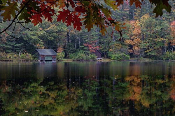 Photograph - Turning Fall Color On Little Lake by Jeff Folger
