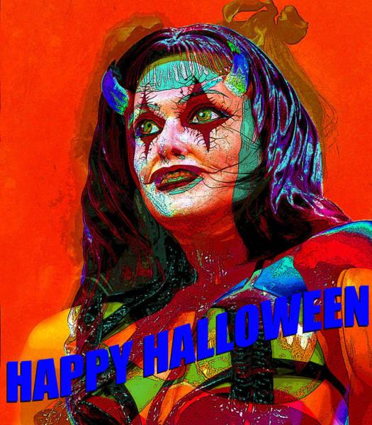 Wall Art - Mixed Media - Turning Into Halloween by David Lee Thompson