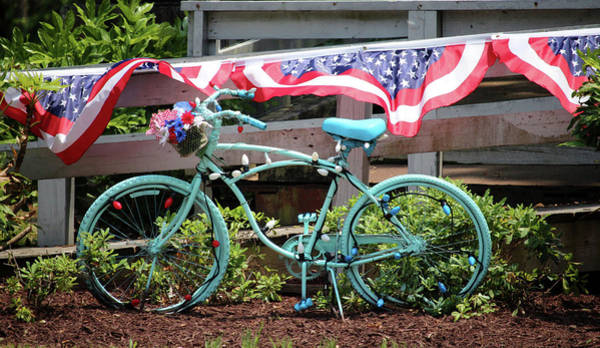 Photograph - Turquoise Bicycle  by Cynthia Guinn