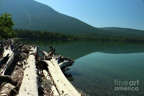 Photograph - Turquoise Blue Waters Of Mcdonald Lake by Christiane Schulze Art And Photography