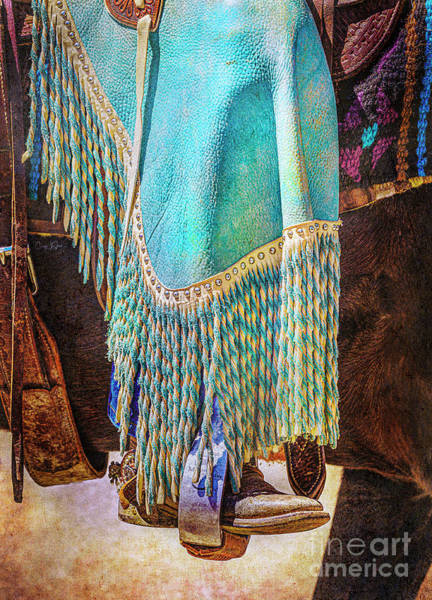 Photograph - Turquoise Chaps And Fringe by Craig J Satterlee