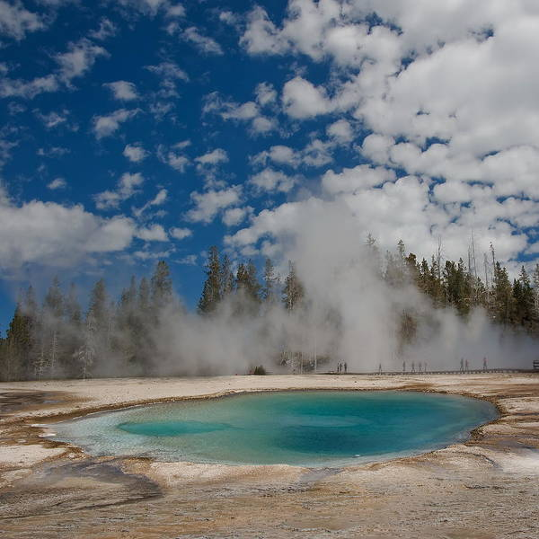 Geysers Photograph - Turquoise Pool by Amateur Photographer, Still Learning...