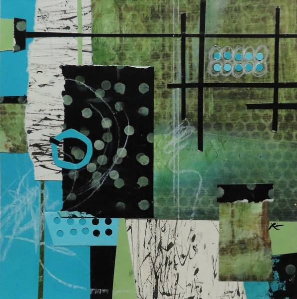 Wall Art - Mixed Media - Turquoise Ringlet  by Laura Lein-Svencner