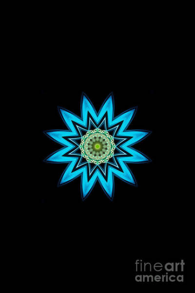 Digital Art - Turquoise Star by Rachel Hannah