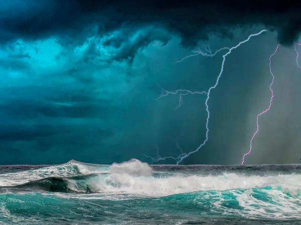 Bahamas Digital Art - Turquoise Storm by Nancy Tobin